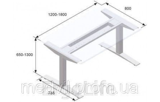 Стол с регулируемой высотой ELS 3