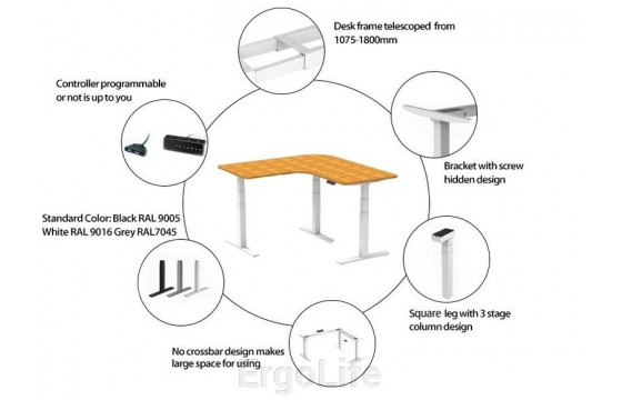 Стол с регулируемой высотой AOKE TRIPOD REC-90