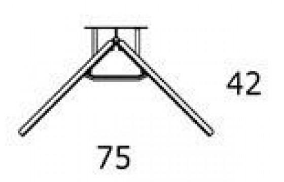 Стол с регулируемой высотой 501-7СВS (7СВB)