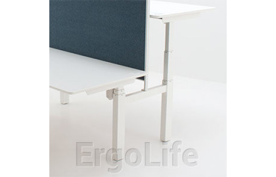 Сдвоенный стол с регулировкой высоты 501-88 7S (W, B)